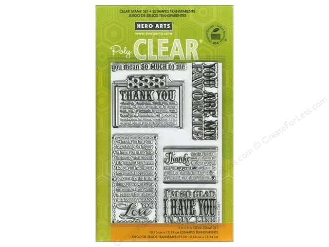 Hero Arts Poly Clear Stamps My Favorite