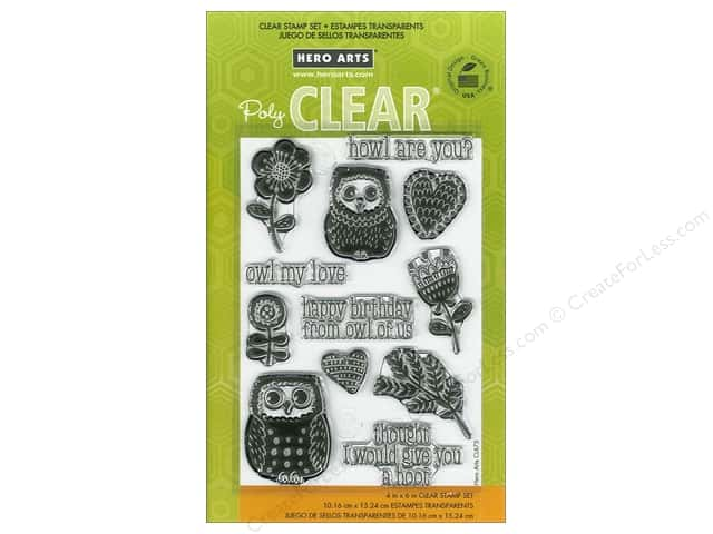 Hero Arts Poly Clear Stamps Howl Are You