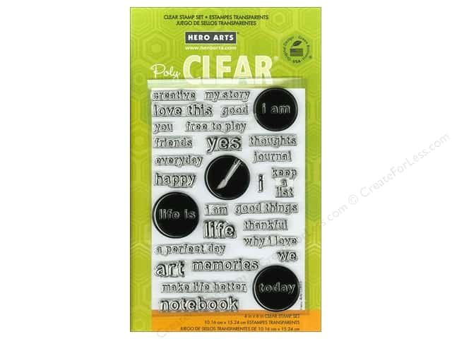 Hero Arts Poly Clear Stamps My Words
