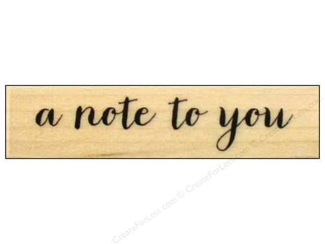 Hero Arts Rubber Stamp A Note To You Script