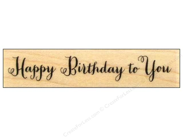 Hero Arts Rubber Stamp Happy Birthday Script