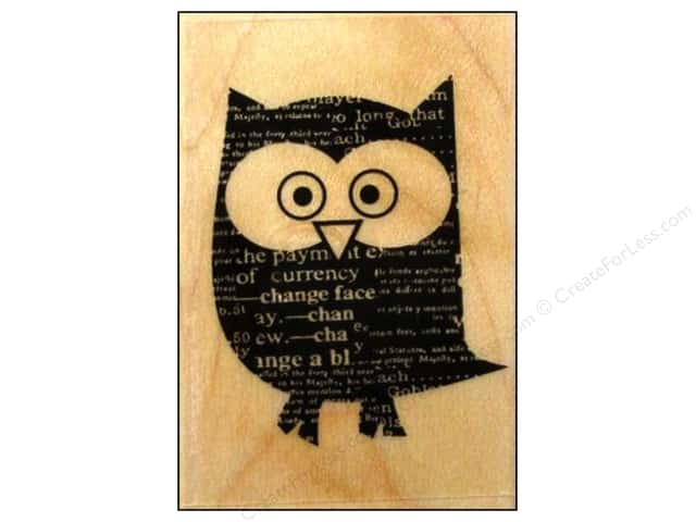 Hero Arts Rubber Stamp Newspaper Owl