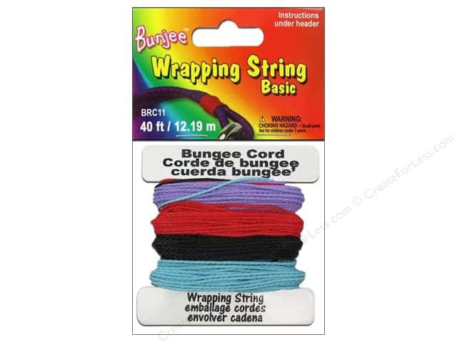 Pepperell Bungee Cord Wrap String Purple/Red/Light Blue/Black