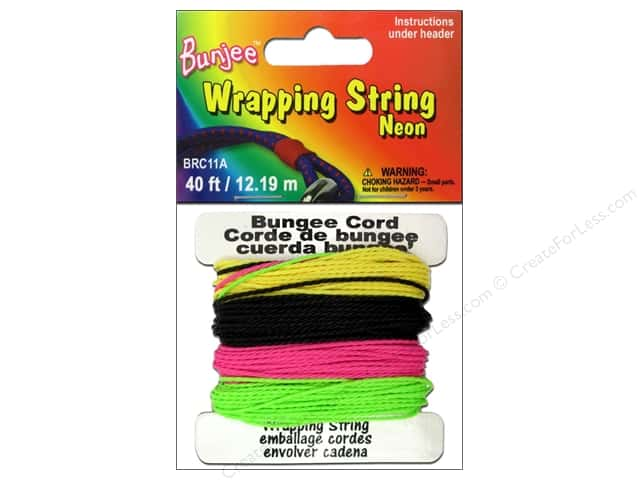 Pepperell Bungee Cord Wrap String Neon Pink/Yellow/Green/Black