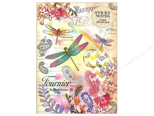 Punch Studio Sticky Notes Portfolio Paisley Dragonfly