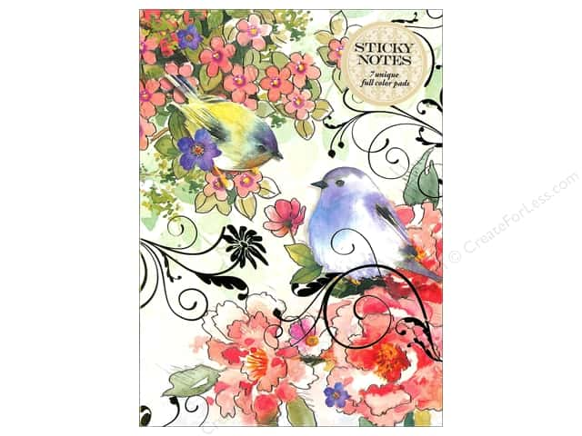 Punch Studio Sticky Notes Portfolio Pink Blossom Bird