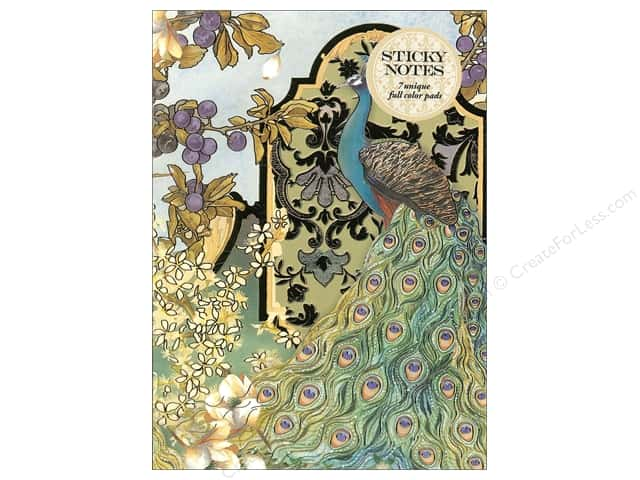 Punch Studio Sticky Notes Padfolio Peacocks In The Garden