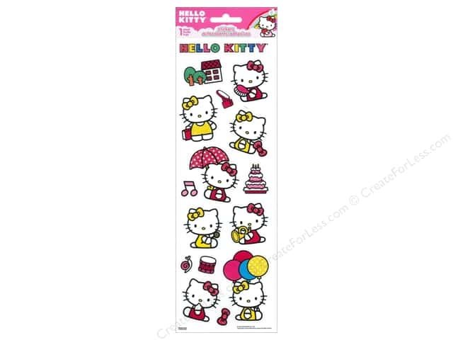 SandyLion Sticker Tall Glitter Hello Kitty