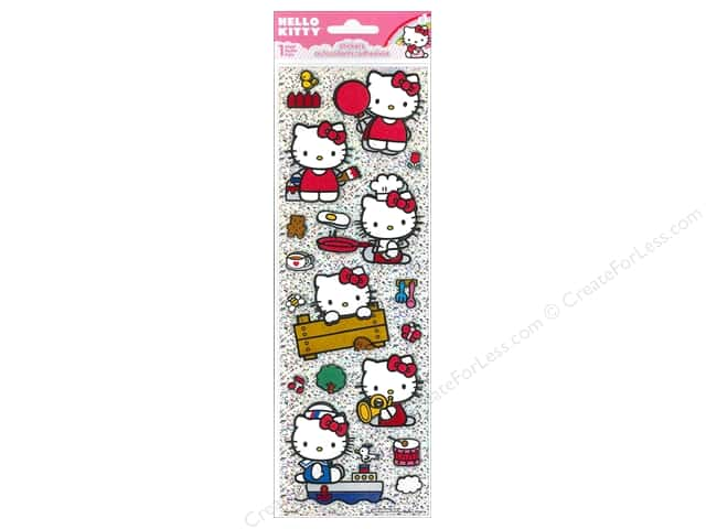 SandyLion Sticker Tall Dimensional Glitter Hello Kitty