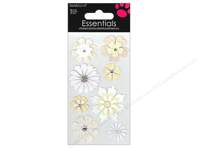 SandyLion Sticker Essentials Flowers Cream & Sugar
