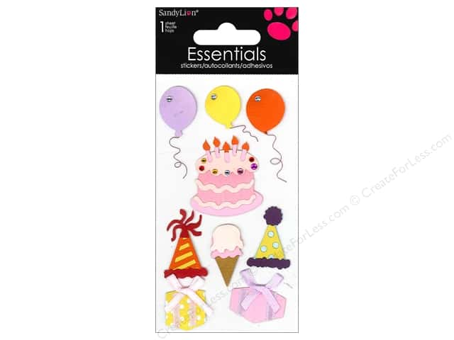SandyLion Sticker Essentials Birthday Feminine
