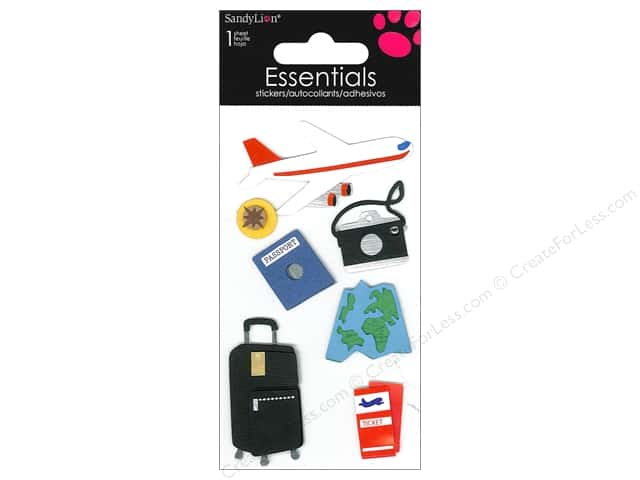 SandyLion Sticker Essentials Travel Plane