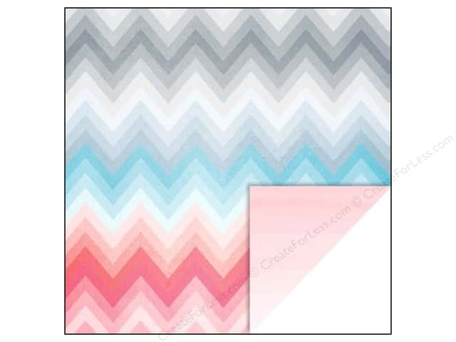 Glitz Design 12 x 12 in. Paper Felicity Chevron (25 sheets)