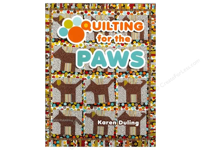 American Quilter's Society Quilting for the Paws Book by Karen Duling