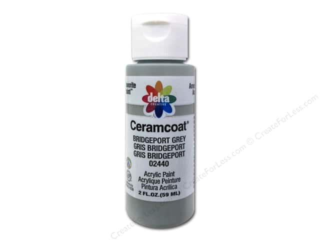Ceramcoat Acrylic Paint by Delta 2 oz. #2440 Bridgeport Grey