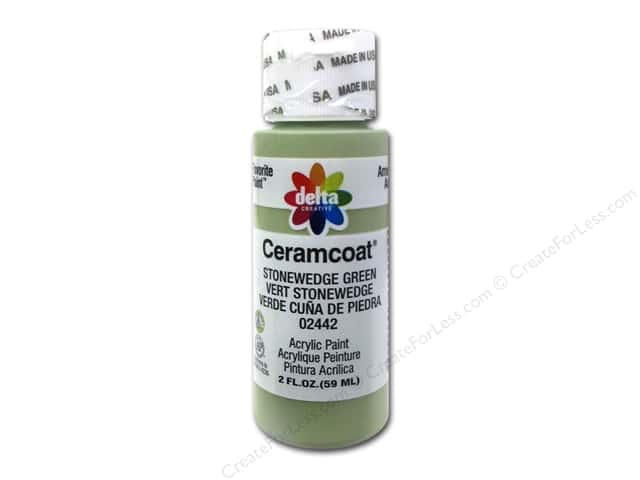 Ceramcoat Acrylic Paint by Delta 2 oz. #2442 Stonewedge Green