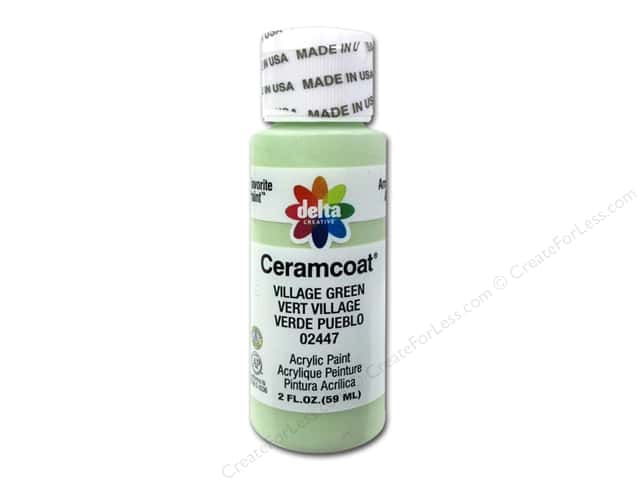 Ceramcoat Acrylic Paint by Delta 2 oz. #2447 Village Green