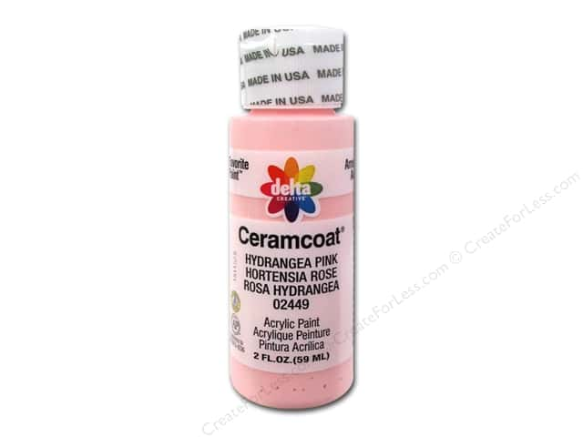 Ceramcoat Acrylic Paint by Delta 2 oz. #2449 Hydrangea Pink