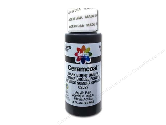 Ceramcoat Acrylic Paint by Delta 2 oz. #2527 Dark Burnt Umber