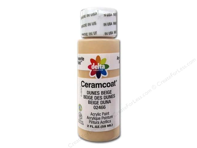 Ceramcoat Acrylic Paint by Delta 2 oz. #2466 Dunes Beige
