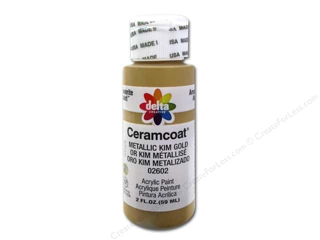Ceramcoat Acrylic Paint by Delta 2 oz. #2602 Metallic Kim Gold