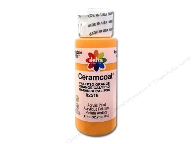 Ceramcoat Acrylic Paint by Delta 2 oz. #2516 Calypso Orange