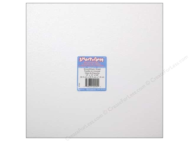 Smoothfoam Sheet 12 x 12 x 5/8 in. White 1 pc.