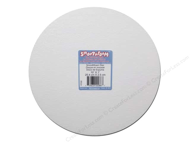 "Smoothfoam Disc 10""x 1"" White 1pc"