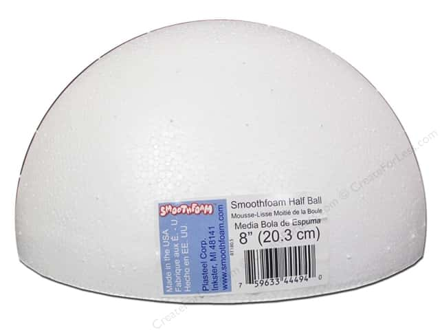 "Smoothfoam Half Package 8"" White 1pc"
