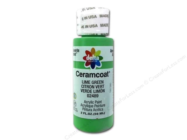Ceramcoat Acrylic Paint by Delta 2 oz. #2489 Lime Green