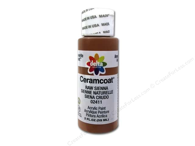 Ceramcoat Acrylic Paint by Delta 2 oz. #2411 Raw Sienna