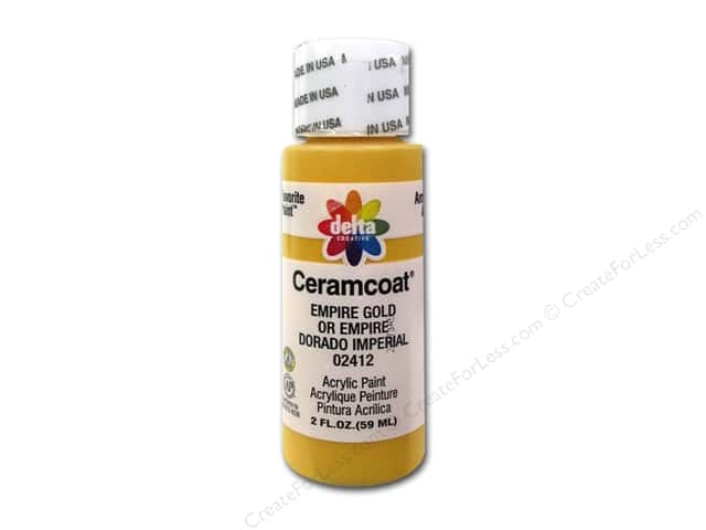 Ceramcoat Acrylic Paint by Delta 2 oz. #2412 Empire Gold