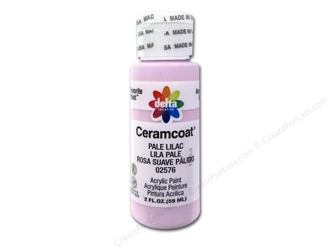 Ceramcoat Acrylic Paint by Delta 2 oz. #2576 Pale Lilac