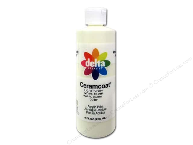 Ceramcoat Acrylic Paint by Delta 8 oz. #2401 Light Ivory