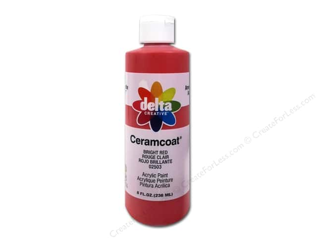 Ceramcoat Acrylic Paint by Delta 8 oz. #2503 Bright Red