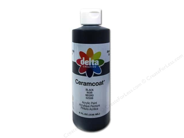 Delta Ceramcoat Acrylic Paint 8 oz. #2506 Black