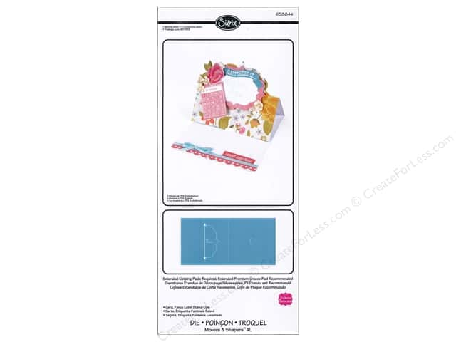 Sizzix  Movers & Shapers Dies XL Stand Ups Label by Stephanie Barnard