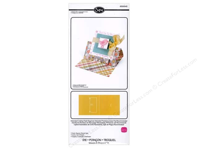 Sizzix Movers & Shapers XL Die Card Square Stand Ups by Stephanie Barnard