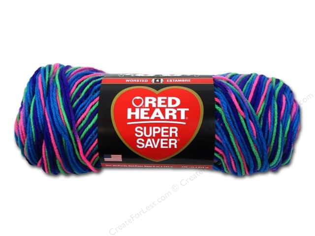 Red Heart Super Saver Yarn  #3947 Bright Mix 236 yd.