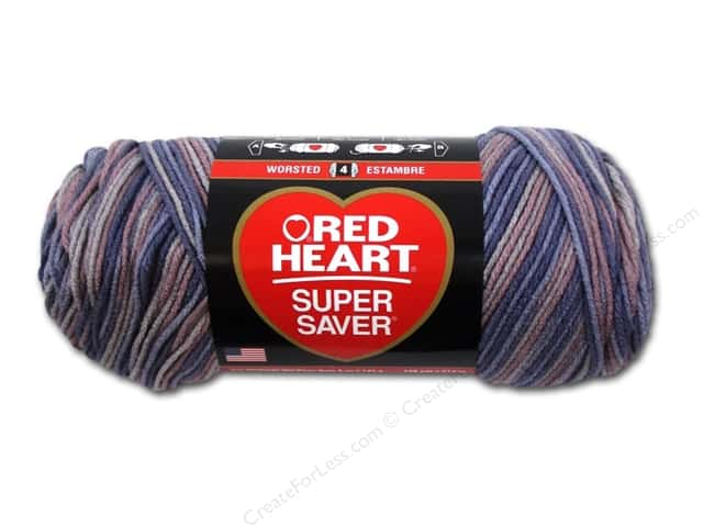 Red Heart Super Saver Yarn #3972 Mulberry Mix 236 yd.