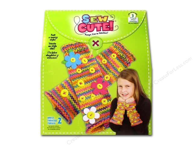 Colorbok Kit Learn To Sew Cute Fingerless Gloves