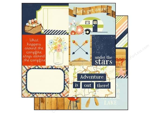 Simple Stories 12 x 12 in. Paper Under The Stars Element #1 (25 sheets)