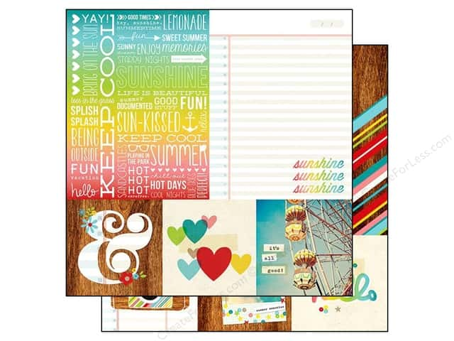 Simple Stories 12 x 12 in. Paper Good Day Sunshine Quotes & Mats (25 sheets)