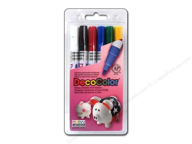 Uchida Decocolor Paint Marker Set - Fine Tip - Primary 6 pc.