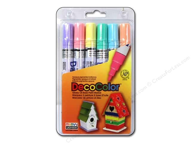 Uchida DecoColor Opaque Paint Marker Broad Point Set B Pastel 6 pc.