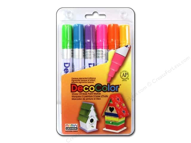 Uchida DecoColor Opaque Paint Marker Broad Point Set C 6 pc.