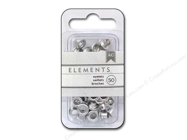 American Crafts Eyelets 3/16 in. Large 50 pc. Silver
