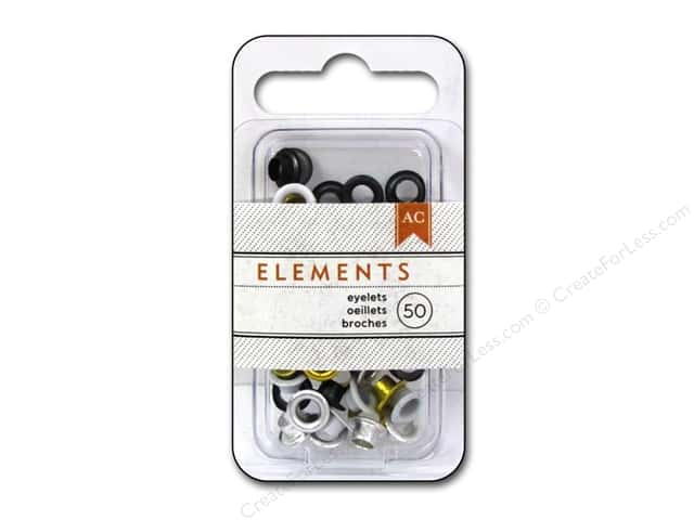 American Crafts Eyelets 3/16 in. Large 50 pc. Metallics