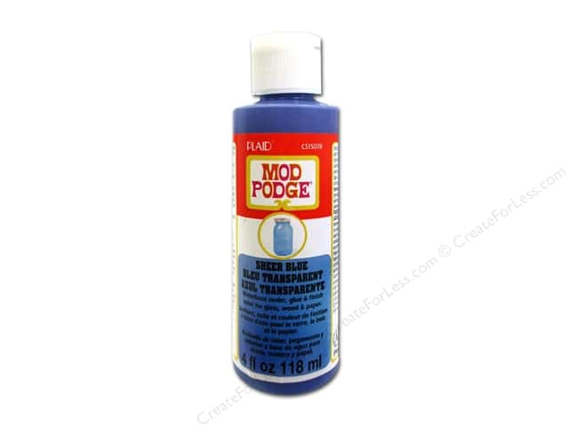 Plaid Mod Podge Sheer Color 4 oz. Blue