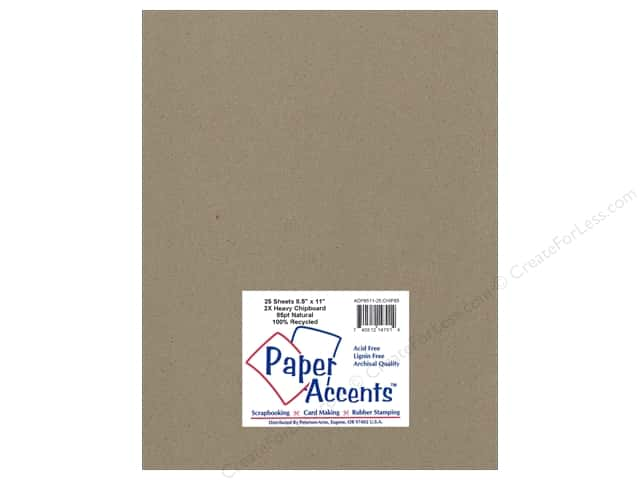 Paper Accents Chipboard 8 1/2 x 11 in. 85 pt. 2X Heavy Natural (25 sheets)